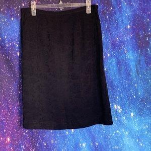 Talbots- Black Floral Patterned Skirt size 14